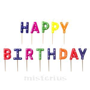 Velas Happy Birthday Multicor Bolinhas